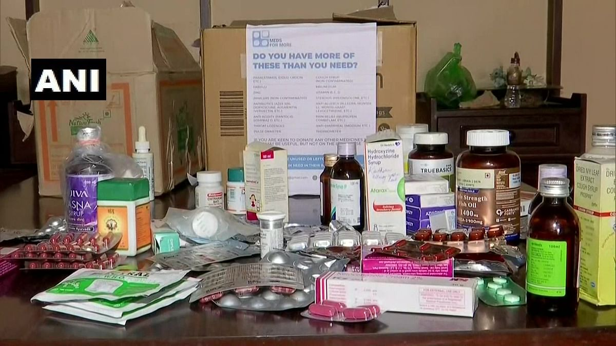"""<div class=""""paragraphs""""><p>Medicines collected by Dr Raina and Dr Marcus</p></div>"""