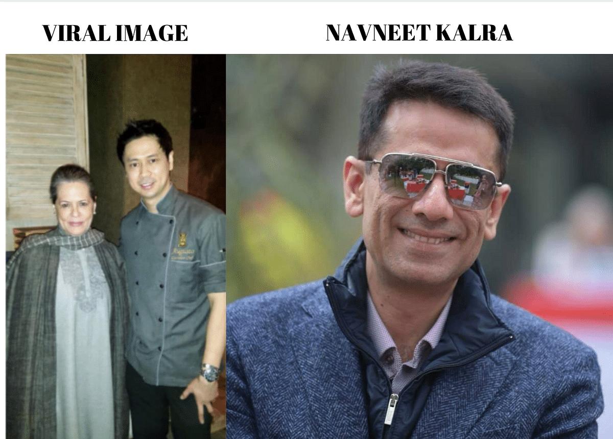 Left: viral image. Right: Navneet Kalra.