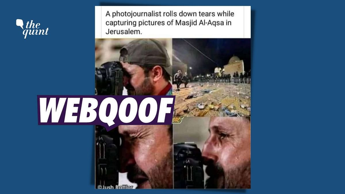 2019 Pic of Crying Photographer Linked to Al-Aqsa Mosque Clashes