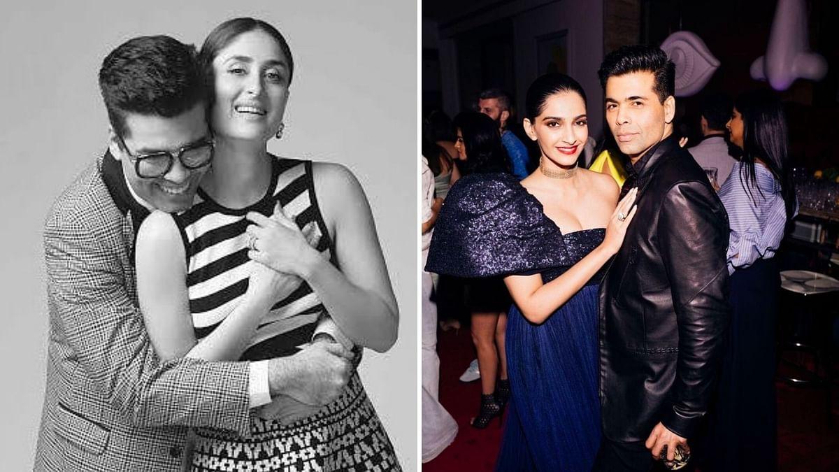 """<div class=""""paragraphs""""><p>Karan Johar with Kareena Kapoor and Sonam Kapoor.</p></div>"""