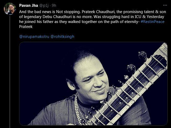 Sitar Player Prateek Chaudhuri Dies of COVID Aged 49