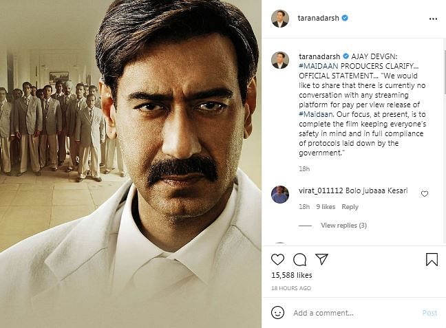 Ajay Devgn's Maidaan to Not Release Online, Producers Confirm