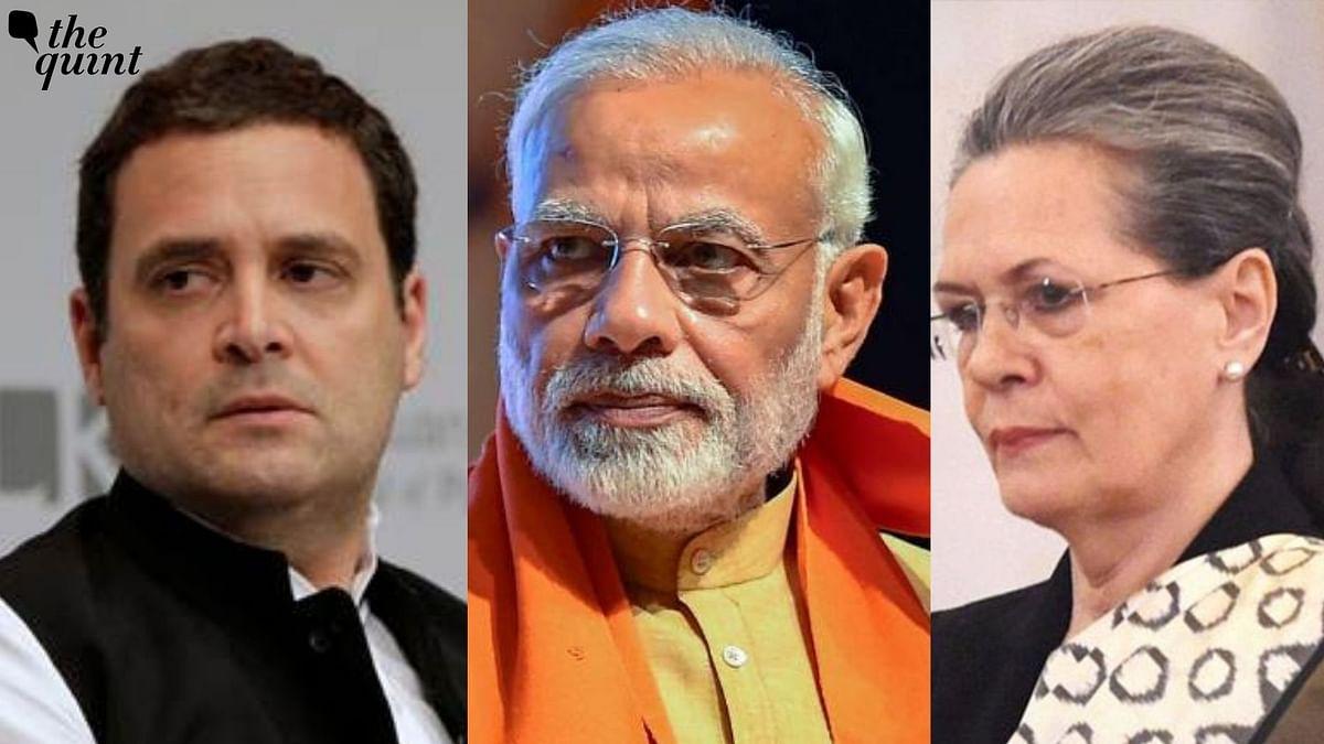 File photos of Rahul Gandhi, PM Modi and Sonia Gandhi used for representational purpose.