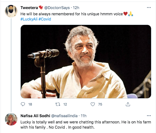 Nafisa Ali Quashes Rumours of Lucky Ali's Death