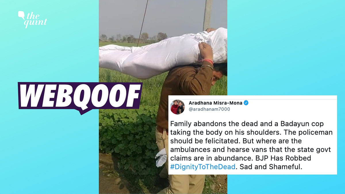 Old Image Shared As Cop Carrying Corpse Amid Second COVID Wave