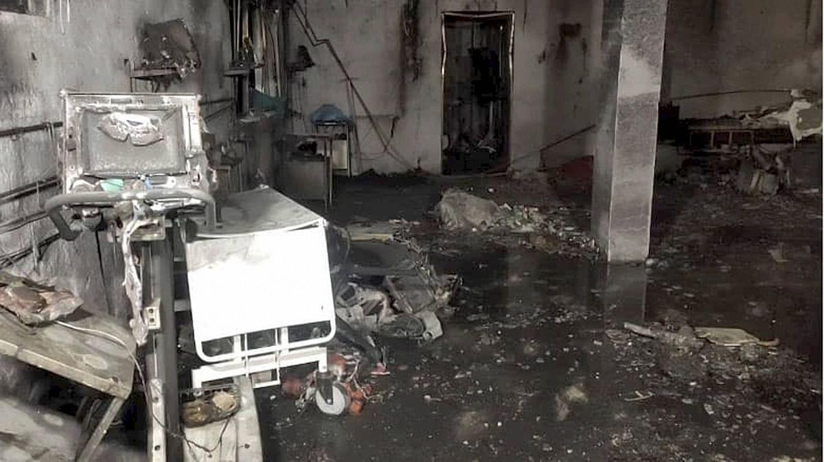 Fire broke out in Patel Welfare Covid Hospital.