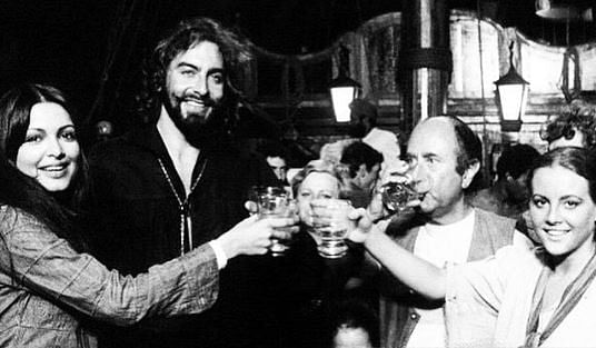 """<div class=""""paragraphs""""><p>Kabir Bedi and Parveen Babi, with Italian director and scriptwriter Sergio Sollima and Austrian actress Sonja Jeannine on the set of 'The Black Corsair'</p></div>"""
