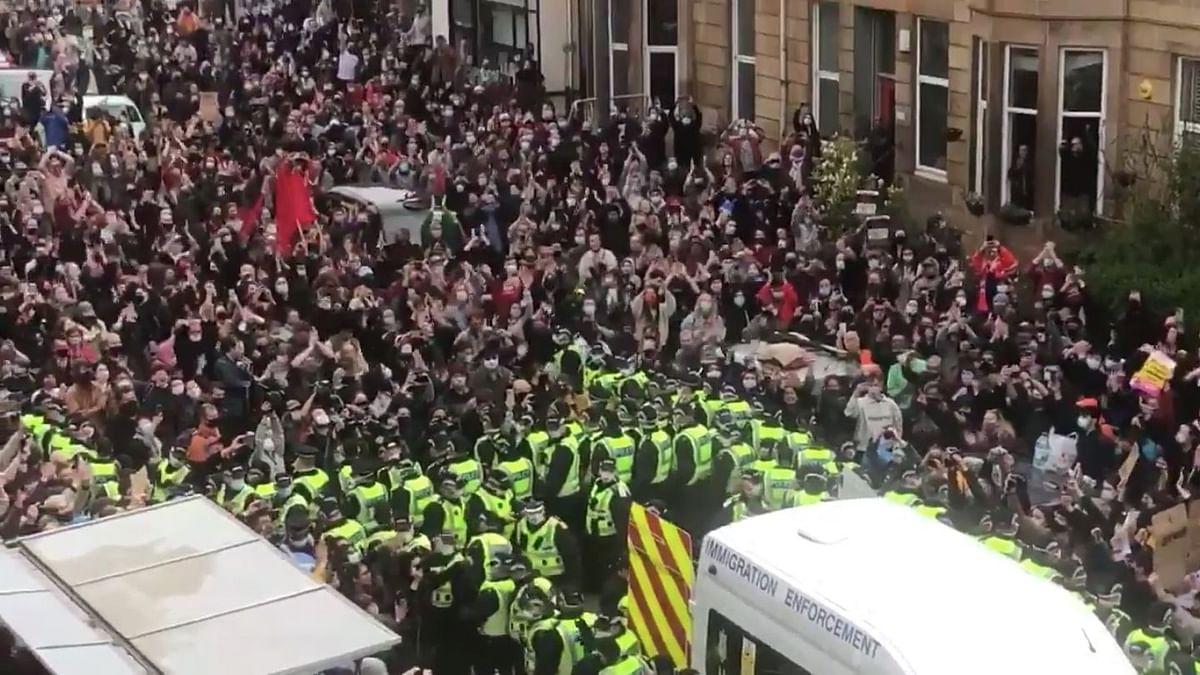 Scotland: 2 Indian Men, Held in Detention Van, Freed After Protest