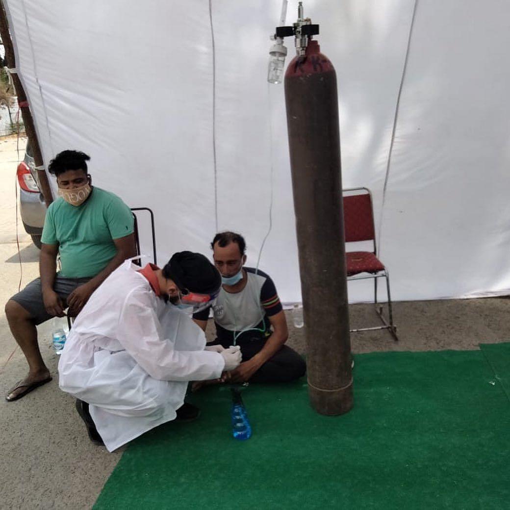 Oxygen langar at Gurudwara Damdama Sahib.