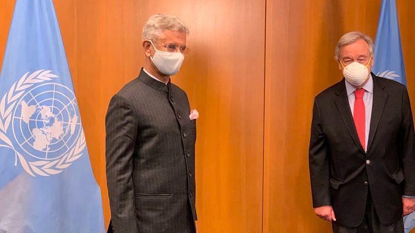 Vaccine Solutions, Other Challenges: Jaishankar Meets UN Secy-Gen