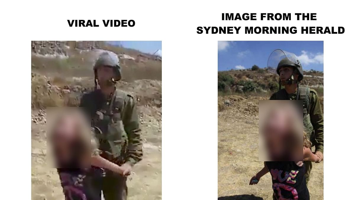 The image in the article (left) matches a screenshot in the video (right).