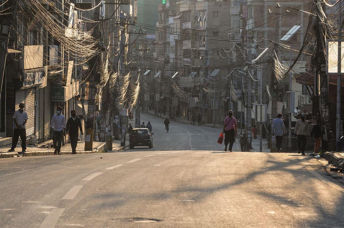 Lockdown in Kathmandu, Nepal.