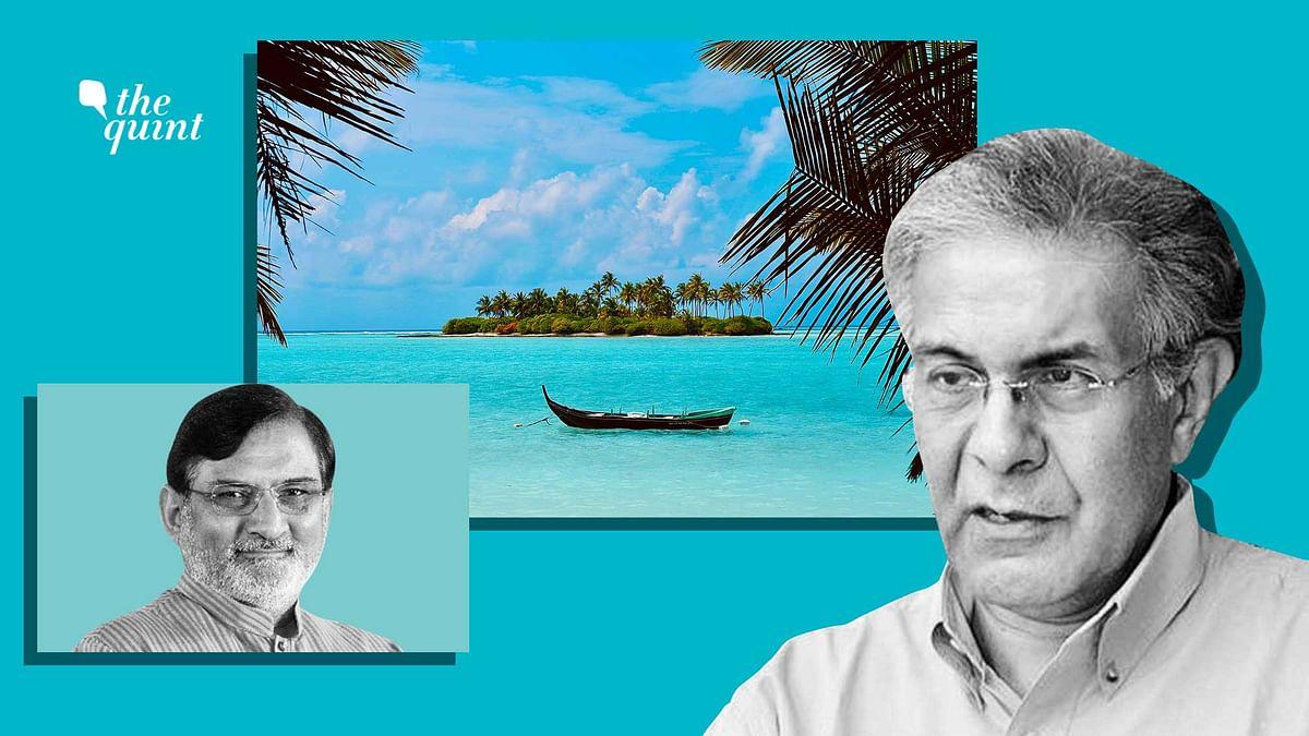 Image of Wajahat Habibullah, former administrator of Lakshadweep (R) and Praful Patel, current administrator, used for representational purposes.