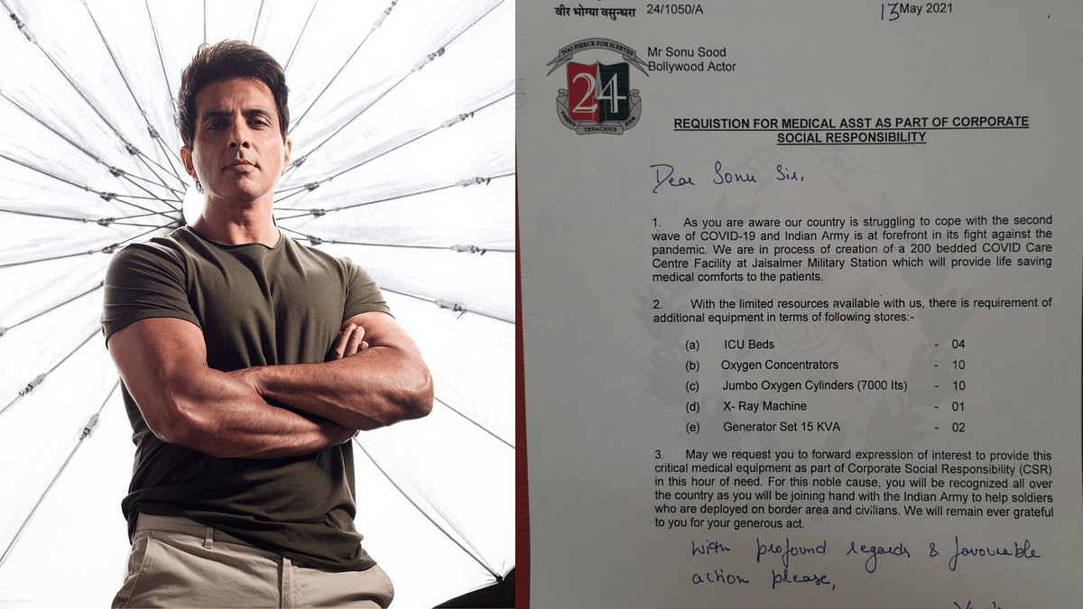 Senior Frowns as Army CO Writes to Sonu Sood for COVID Resources
