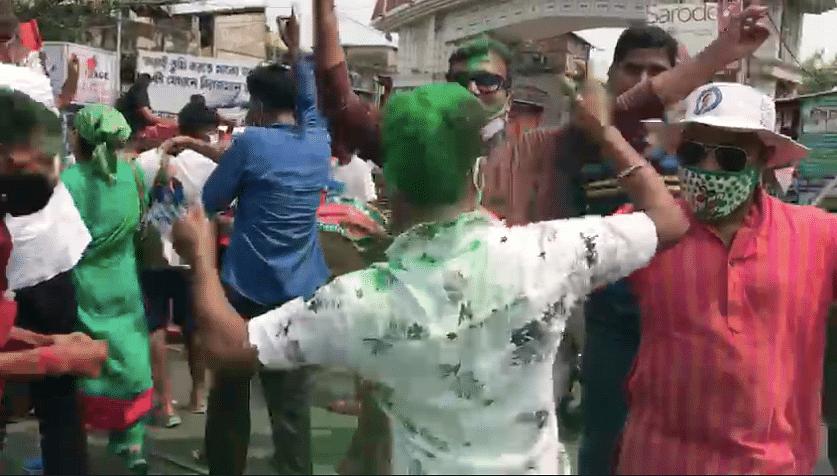 Celebrations in Kolkata.
