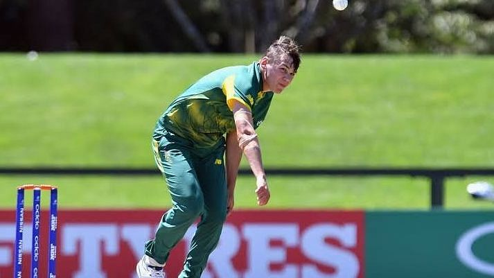 South Africa pacer Gerald COetzee at the U-19 World Cup.