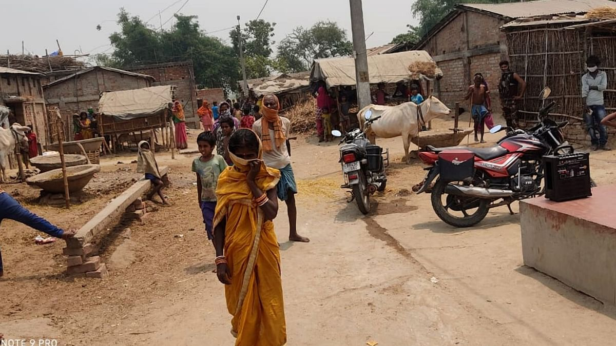 Men and women in villages refuse to wear masks and mostly use their waist cloth or sari to cover their faces.