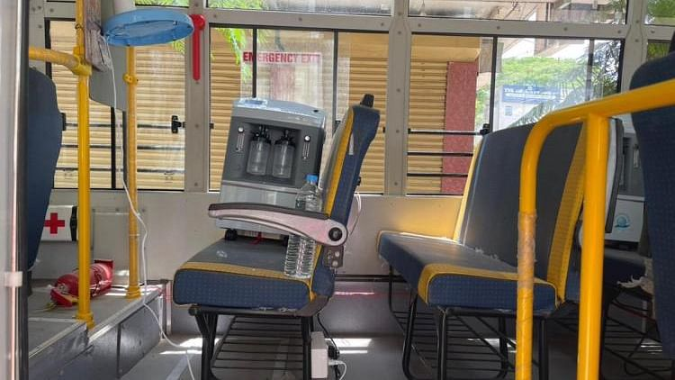 The Young Indians, a youth arm of CII, has set up a bus with five oxygen beds in Tiruppur.