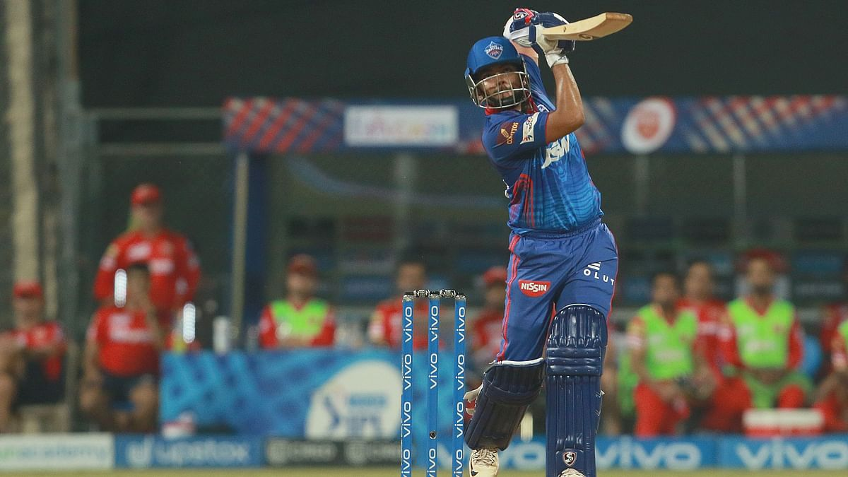 Prithvi Shaw in full flow against Punjab Kings in IPL 2021.