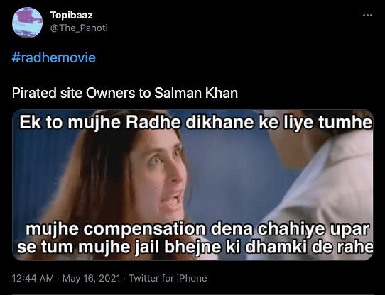 Salman Khan Warns Against Piracy of 'Radhe', Gets Trolled