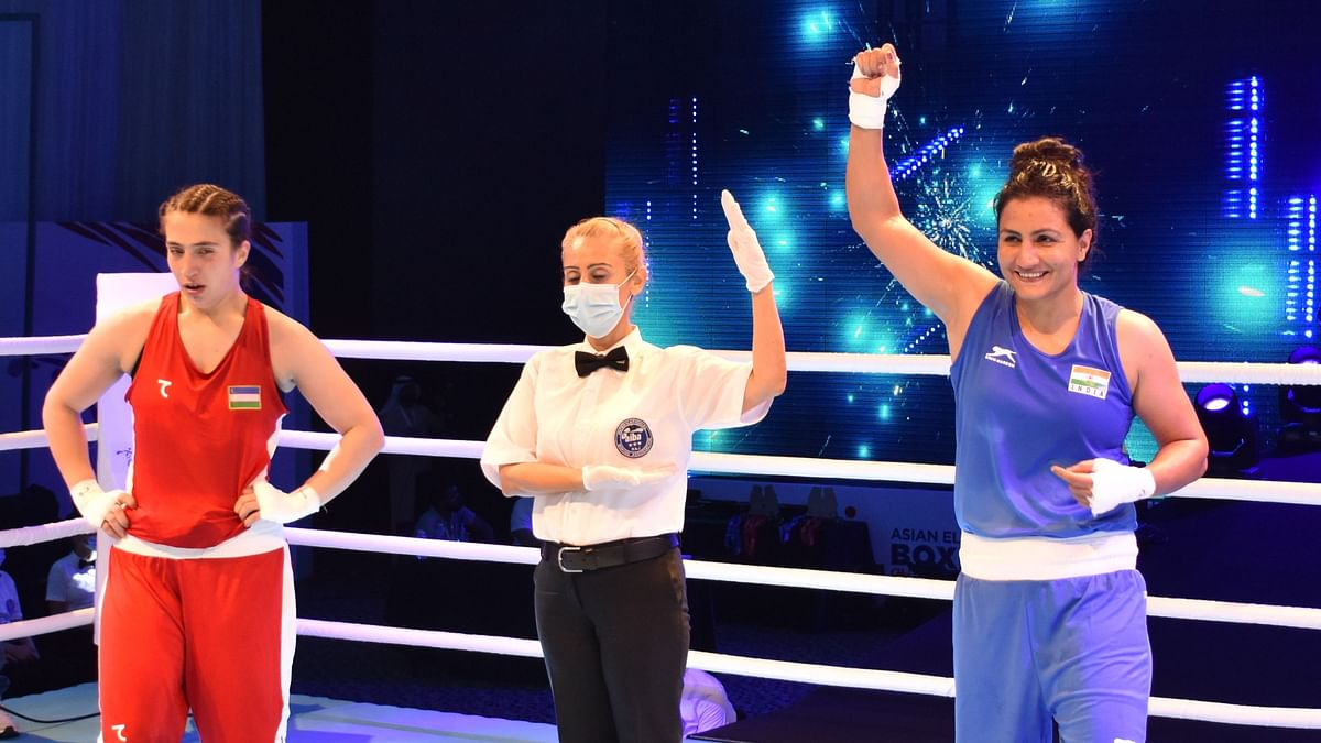 """<div class=""""paragraphs""""><p>Pooja Rani successfully defended her gold medal at the 2021 Asian Championships.</p></div>"""