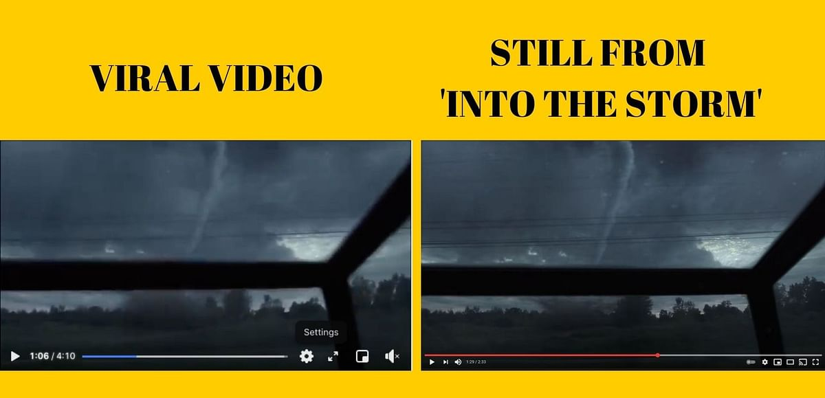 Clip From 2014 Movie Shared  as Visuals of a 'Tornado in Toronto'