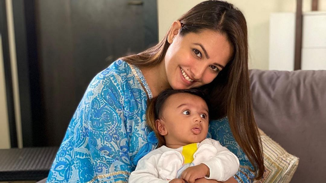 """<div class=""""paragraphs""""><p>Anita Hassanandani with her son Aarav.</p></div>"""