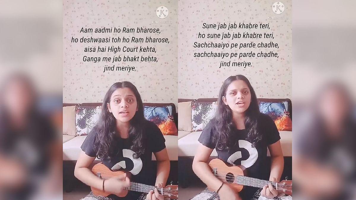 """<div class=""""paragraphs""""><p>Srushti Tawade performing 'Sune Jab Jab'</p></div>"""