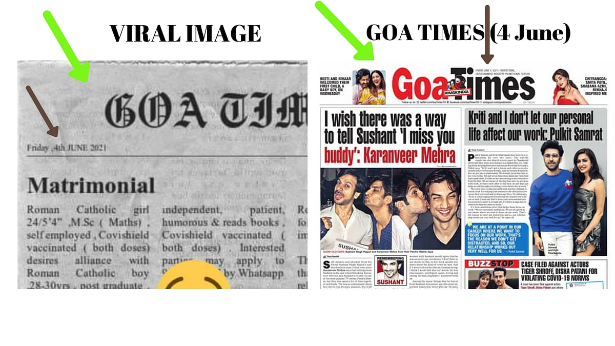 Fake News Clipping of Bride Seeking 'Vaccinated Groom' Goes Viral