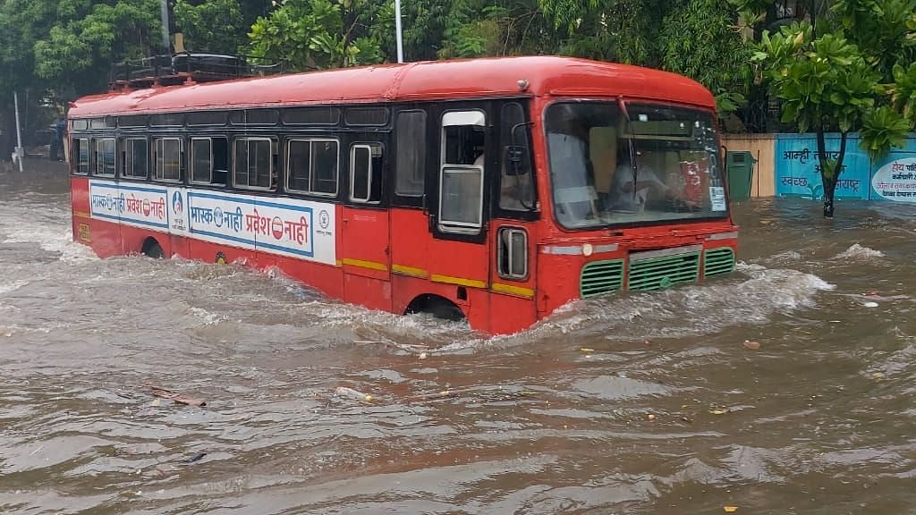 Waterlogging is being reported  from several parts of Mumbai, along with vehicular traffic and train service disruptions.