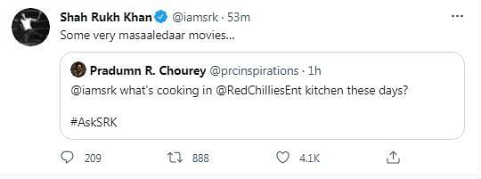 Here's SRK's Reply to Twitter User Asking 'Aap Bhi Berozgaar?'