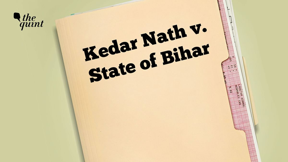 While providing relief to Dua, the apex court said again that even journalists should benefit from the high threshold of sedition set in the Supreme Court's 1962 judgment in the Kedar Nath case.