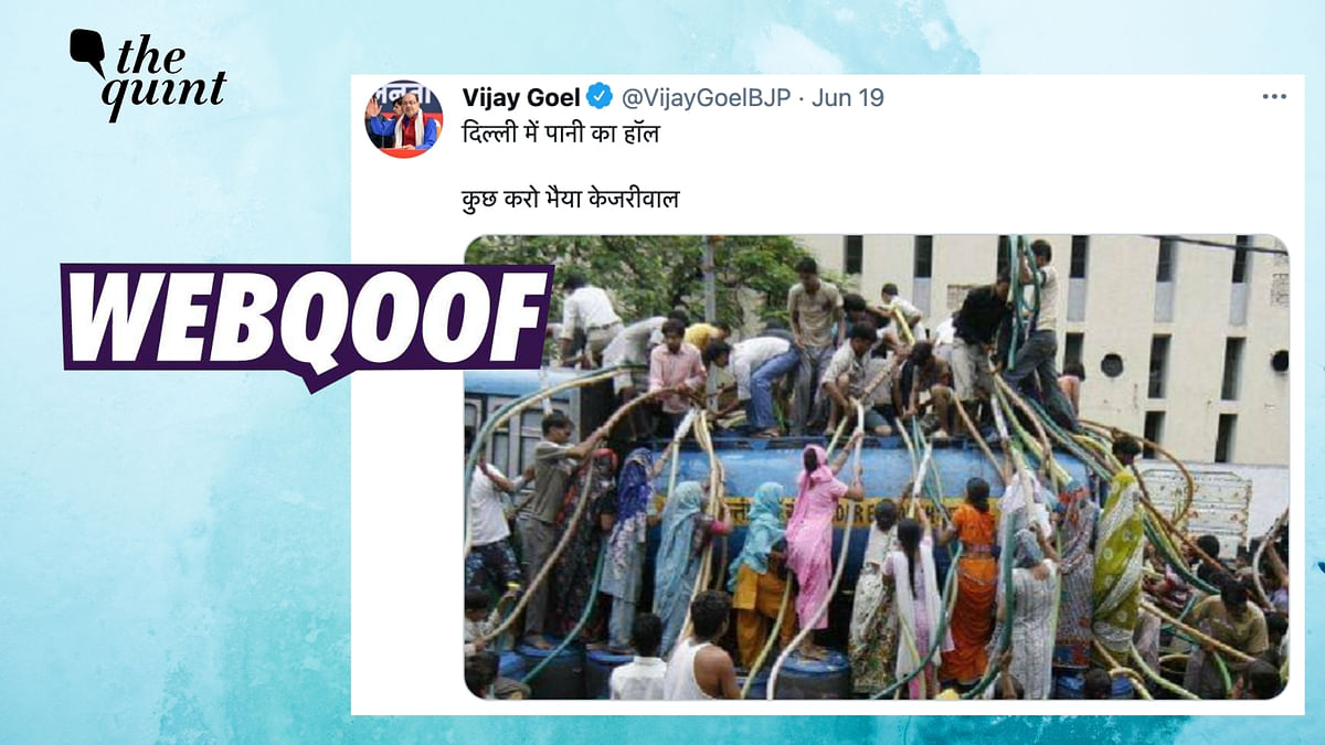 """<div class=""""paragraphs""""><p>The claim takes a dig at Delhi Chief Minister Arvind Kejriwal over the water crisis situation.</p></div>"""