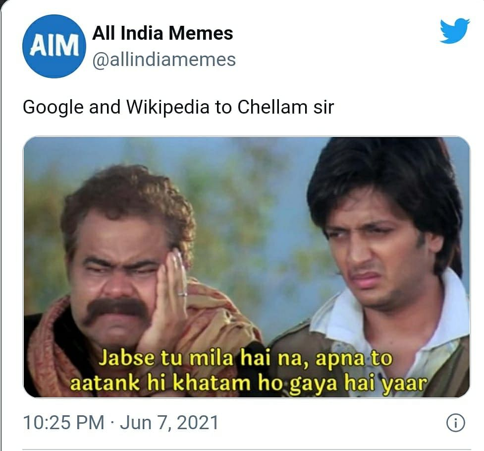 Twitter Is Pouring With The Family Man 2's Chellam Sir Memes