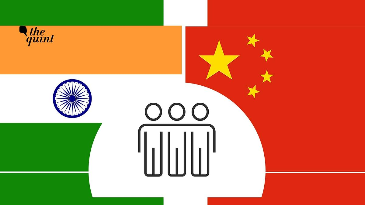 Image of Indian and Chinese flags used for representational purposes.