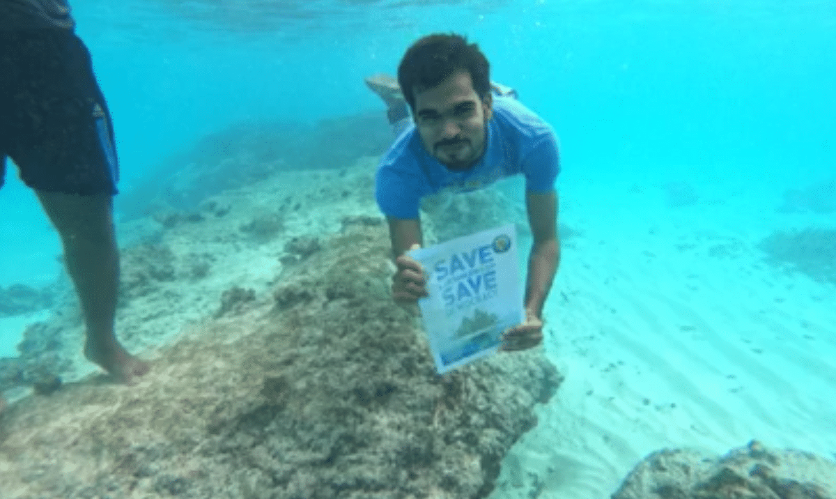 Residents of Lakshadweep held placards outside their homes, lying on charpoys and even swimming underwater as part of a 12-hour long hunger strike.