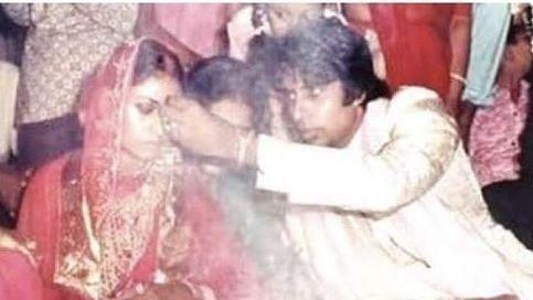 "<div class=""paragraphs""><p>Amitabh Bachchan and Jaya Bachchan on their wedding day.</p></div>"
