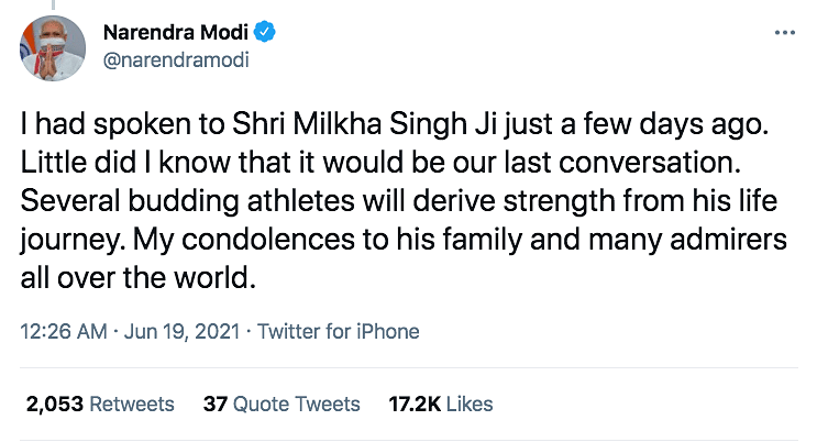 'Had Special Place in Our Hearts': PM Modi On Milkha Singh's Death