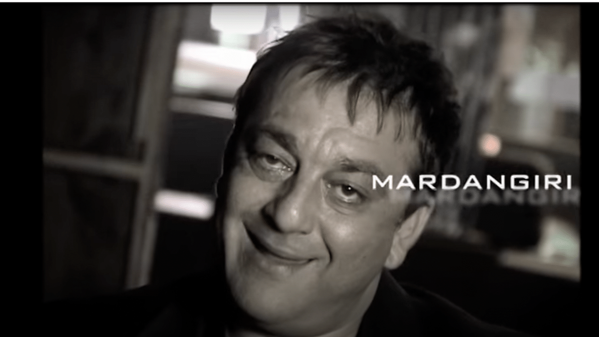 """<div class=""""paragraphs""""><p>A snapshot of Sanjay Dutt from a sexist 2008 ad for Haywards 5000 soda.</p></div>"""
