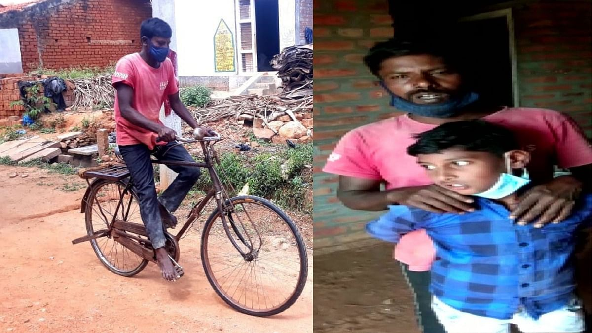 """<div class=""""paragraphs""""><p>Karnataka: Man Travels 112 Km on Cycle to Get Medicines for Son</p></div>"""