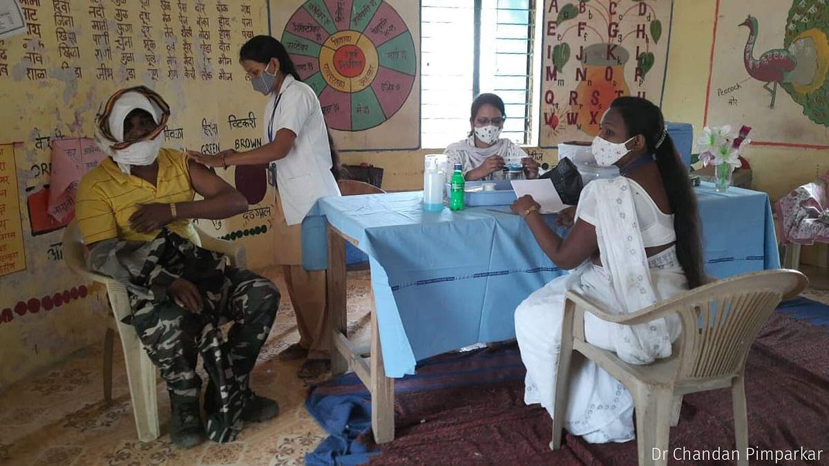 Vaccination underway in Chinchkheda.