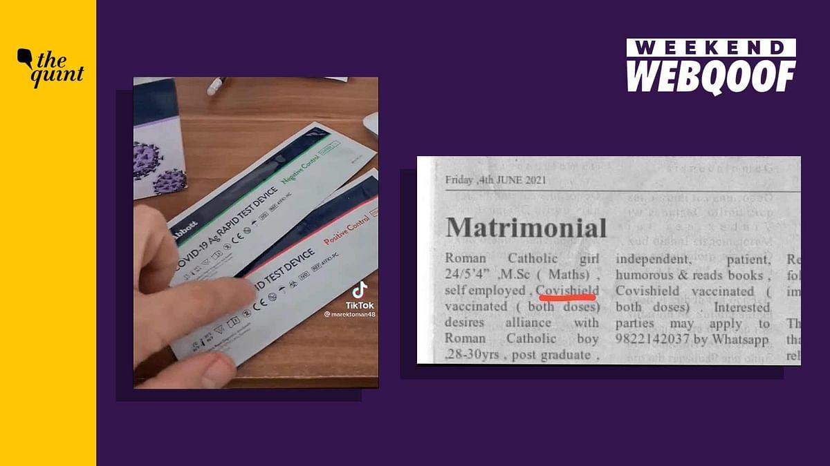 WebQoof Recap: Of Edited Matrimonial Pic & COVID-19 Test Results