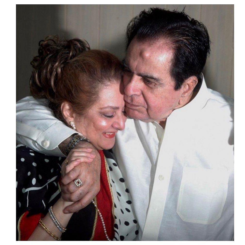 """<div class=""""paragraphs""""><p>Dilip Kumar and wife Saira Banu</p></div>"""
