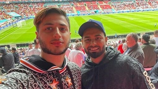 """<div class=""""paragraphs""""><p>India's wicketkeeper-batsman Rishabh Pant was seen enjoying the Euro 2020 knockout clash between England and Germany at the Wembley Stadium.&nbsp;</p></div>"""
