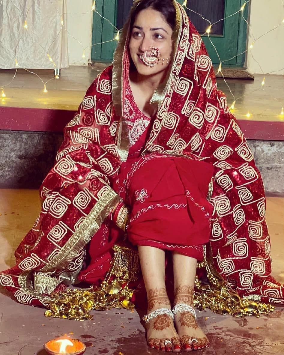 "<div class=""paragraphs""><p>Yami Gautam during one of the wedding ceremonies.&nbsp;</p></div>"
