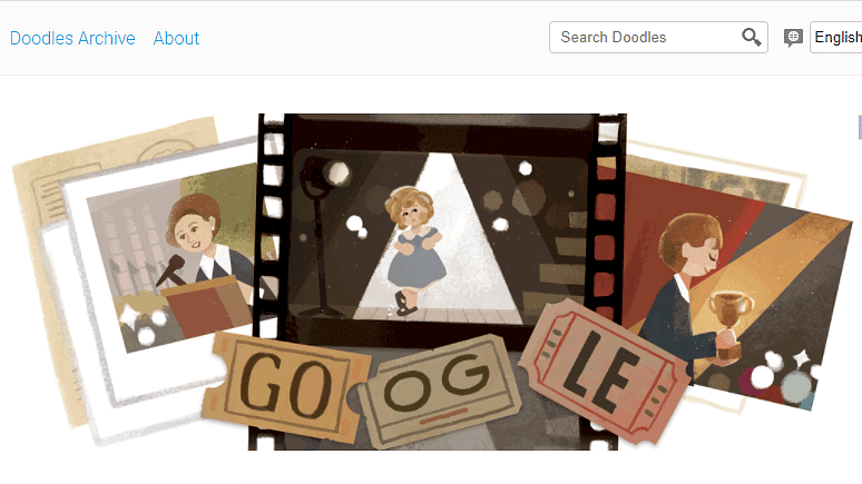 """<div class=""""paragraphs""""><p>Google Doodle celebrated child star Shirley Temple on 9 June</p></div>"""
