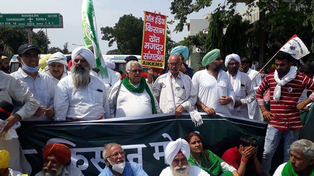 Farmers march in Haryana