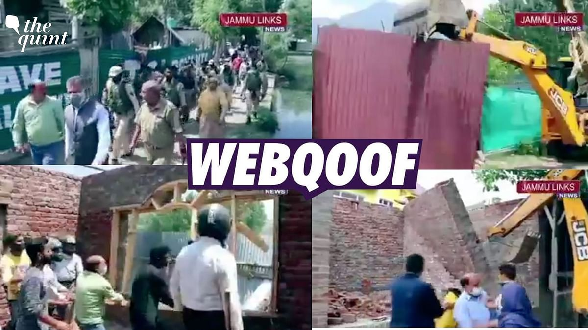 Video of Demolition Drive in J&K Falsely Linked to Rohingyas
