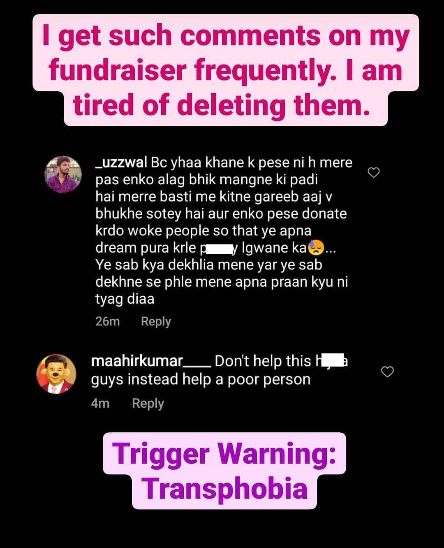 Rishikesh subjected to transphobia on social media