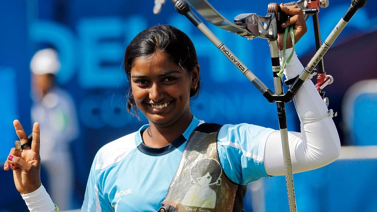 File picture of Deepika Kumari who is headed to her third Olympic Games this summer.
